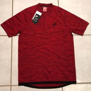 NWT NIKE Tech Pack Knit Red Polo Shirt $125